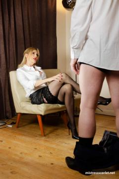 mistress-scarlet-scolding-slave-about-to-get-spanked