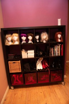 cabinet-of-wigs-and-boots-and-clothing-for-feminisation